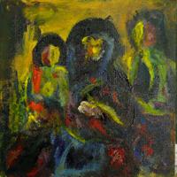 Icon III (Madonna met kind en kannunik Gula)