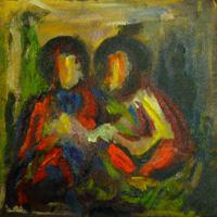 Icon IV (Onbevlekt intiem moment met Maria en Jozef)