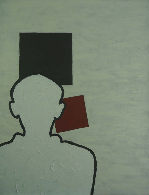 Ravevich (ode to Raveel and Malevich) - abstract painting by Boss